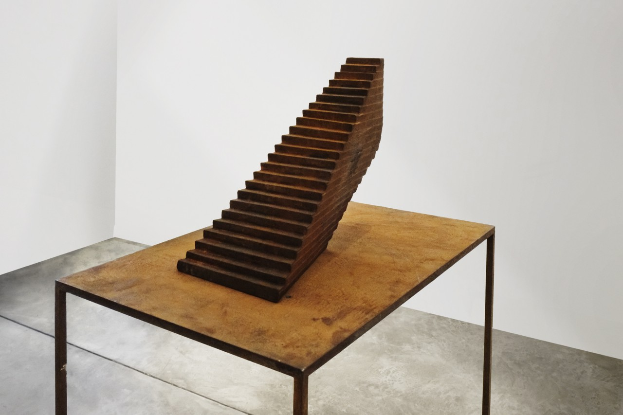 Sanctuary; 2015, model for cast iron sculpture; 136 x 45 x 65 cm