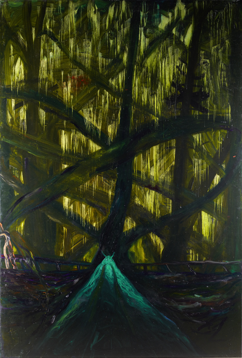 Jungle, 300x200cm, Öl auf Leinwand