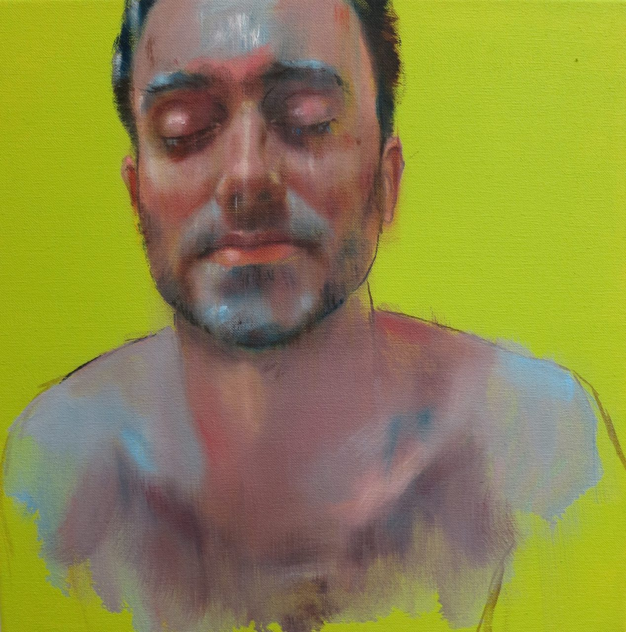 warm-cold, 40x40cm, 2016, oil on linen