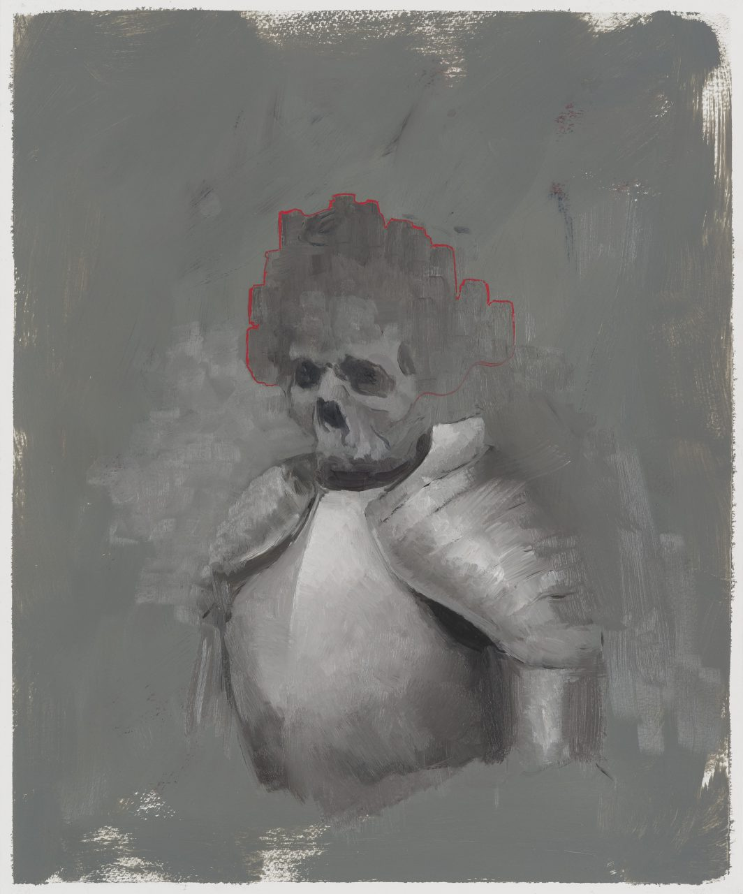 Culture Minister I | 2015 | Oil on paper | 44 x 37 cm