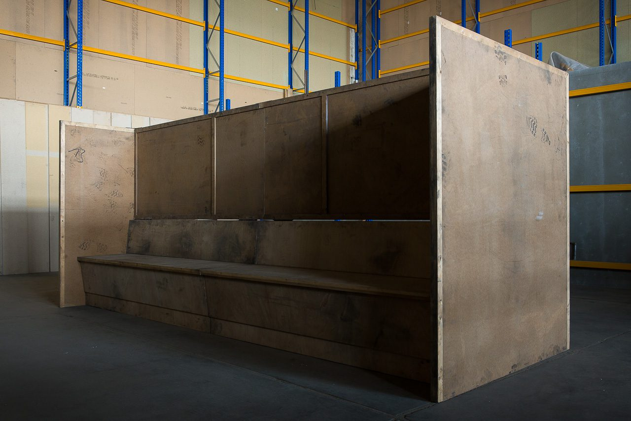 Bench, 2006 | MDF, wood, steel |170 × 400 × 150 cm