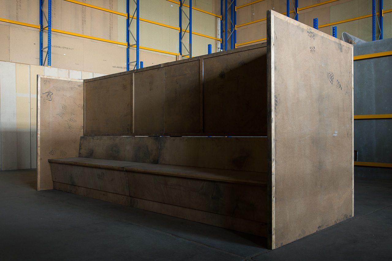 Bench, 2006 | MDF, wood, steel |170 × 400 × 150 cm