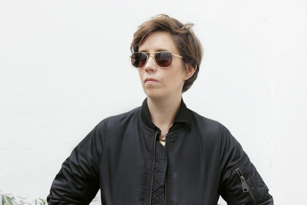 Nina in front of studio