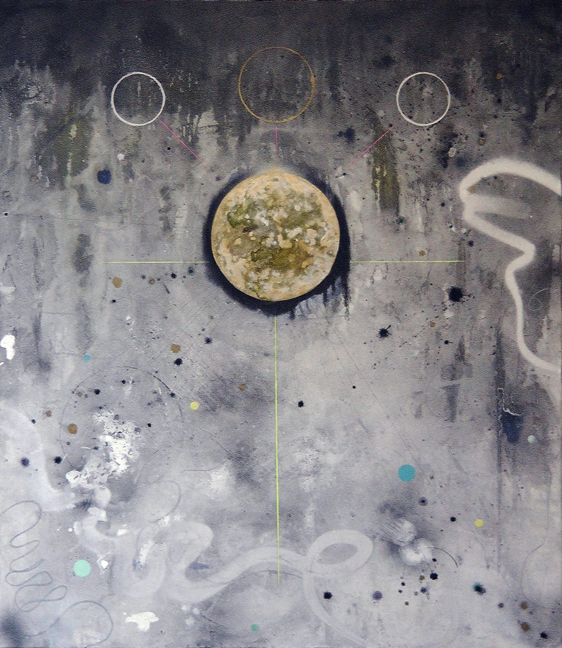A.Q., mixed media on canvas, 155x135 cm, 2016