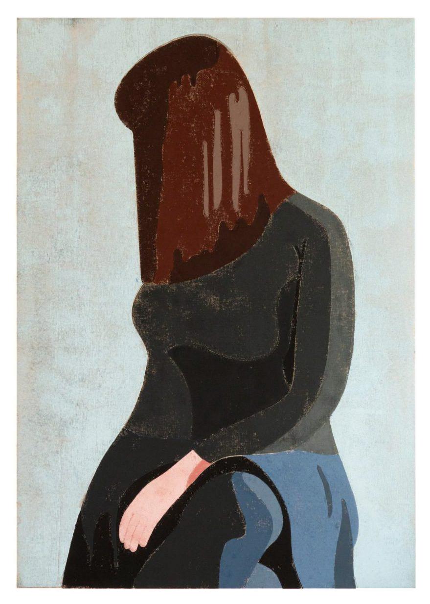 Angelika, 2016, 70 x 100 cm, stencil print on canvas