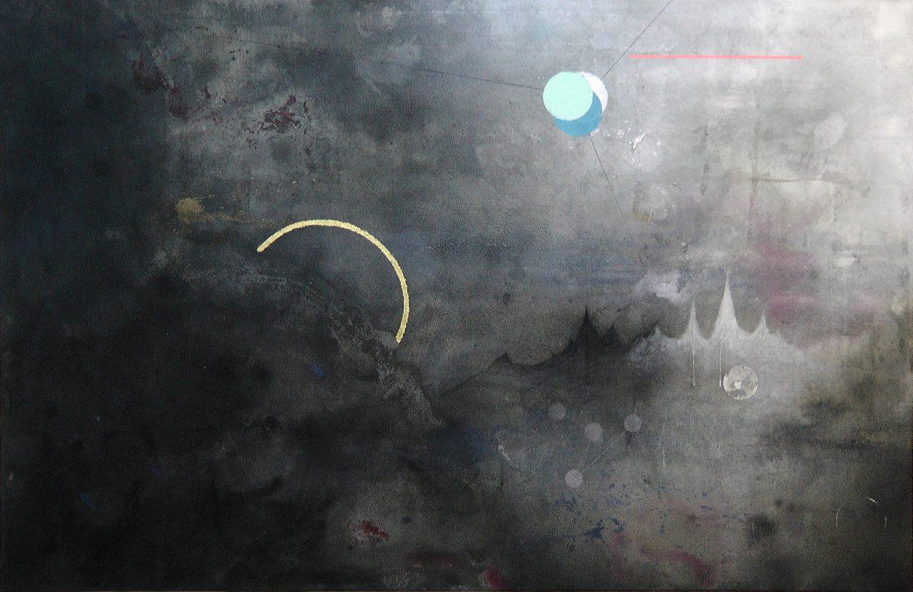 Sol Invictus, mixed media on canvas, 200x130 cm, 2016
