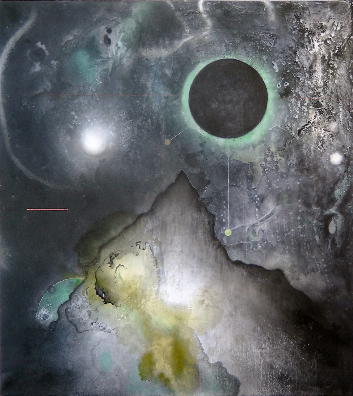 Weltenberg, mixed media on canvas, 155x135 cm, 2015