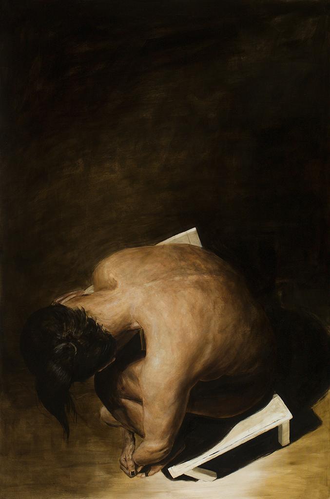 im licht, 2015, öl/leinwand, 165 x 110 cm