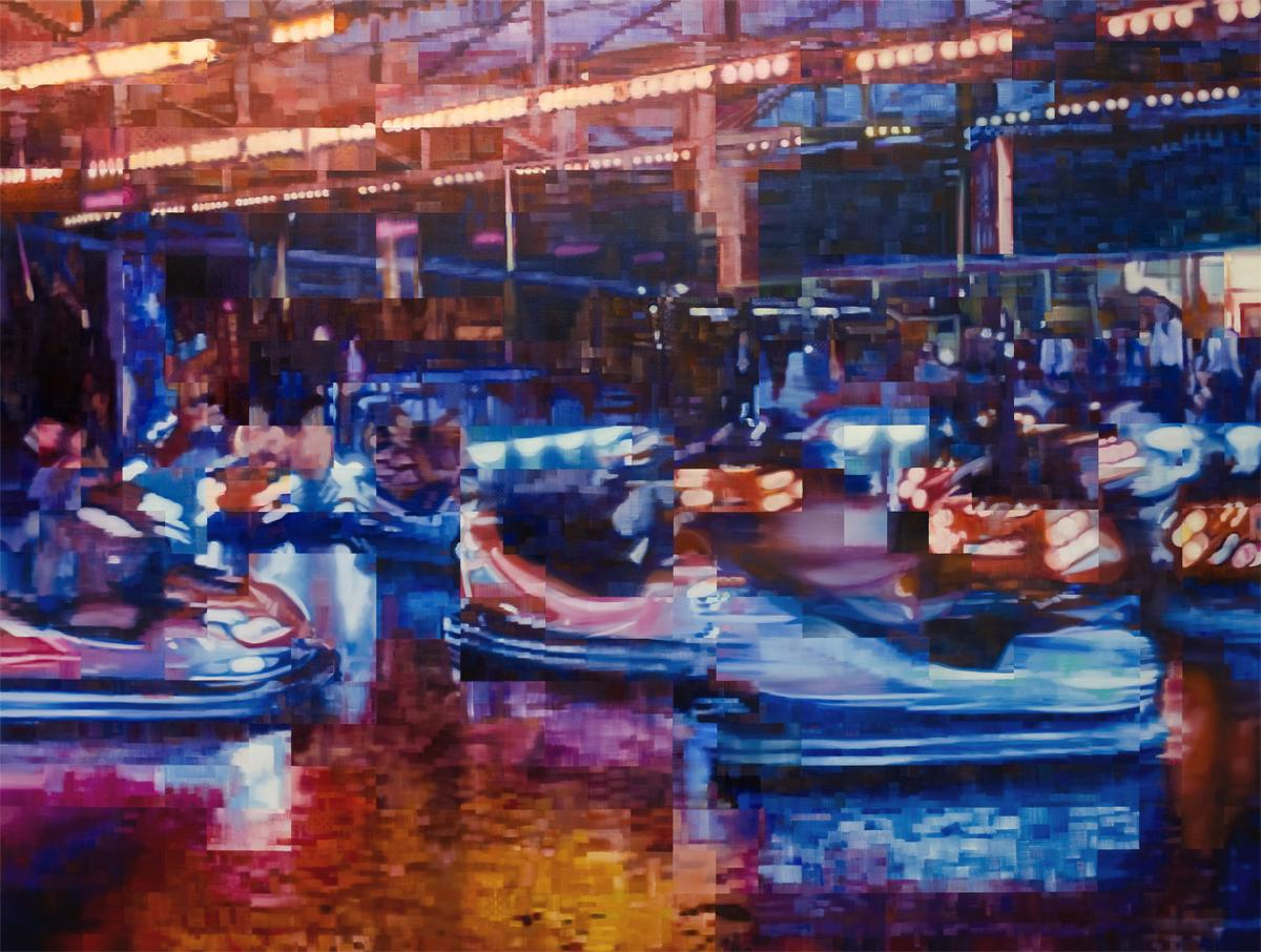 artificial light ( 2012 ) Oil on Canvas , 180 x 240 cm