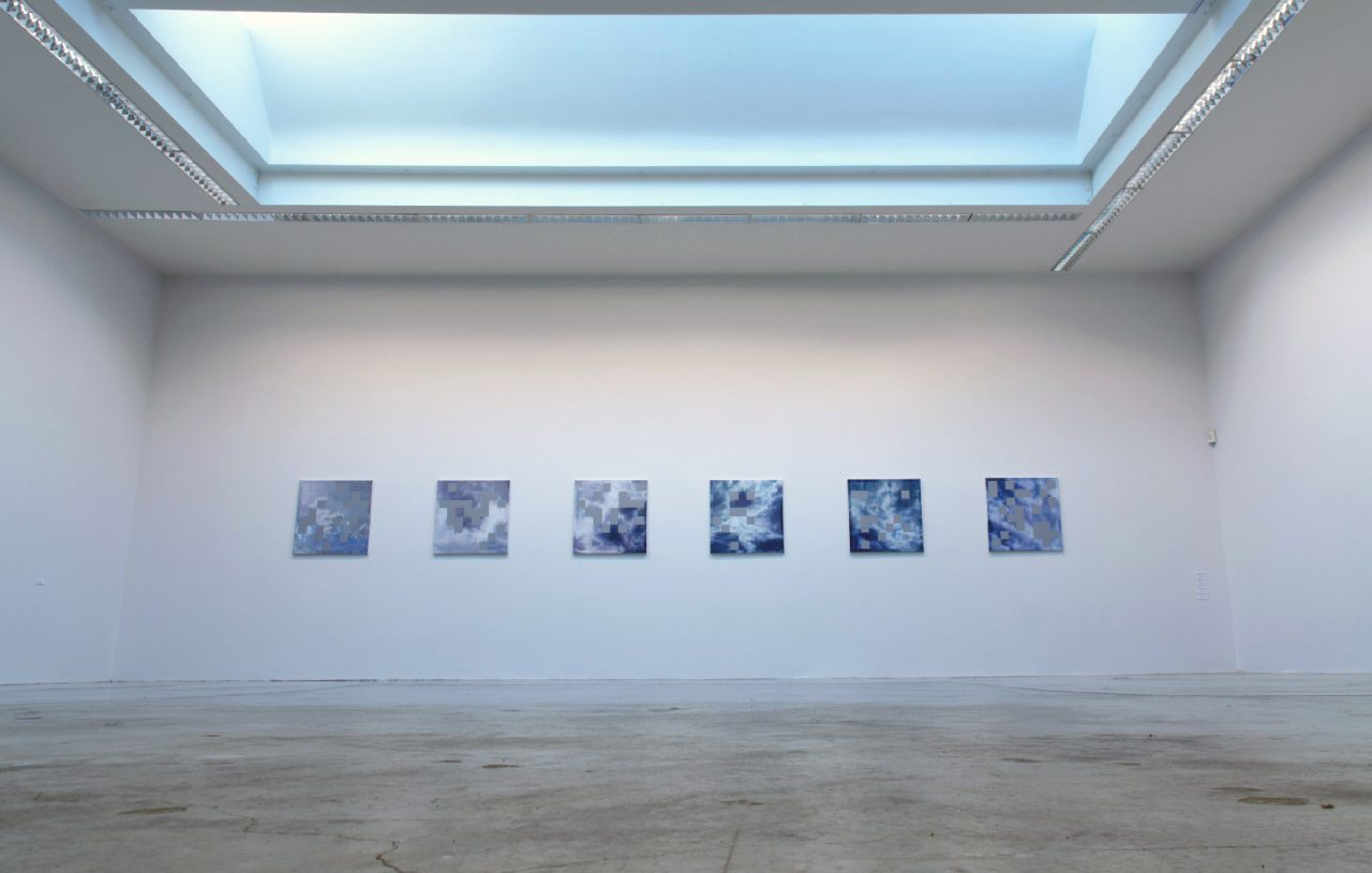 Deep Blue ( 2012 ) Oil & Acrylic on Canvas , 6 Canvases each 70 x 70 cm