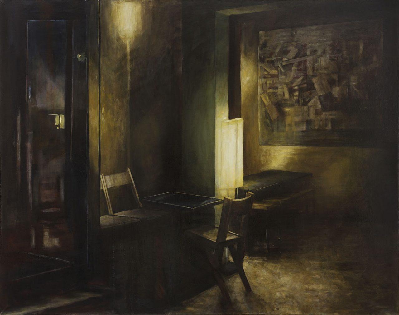 barlicht, 2016, öl/leinwand, 190 x 240 cm