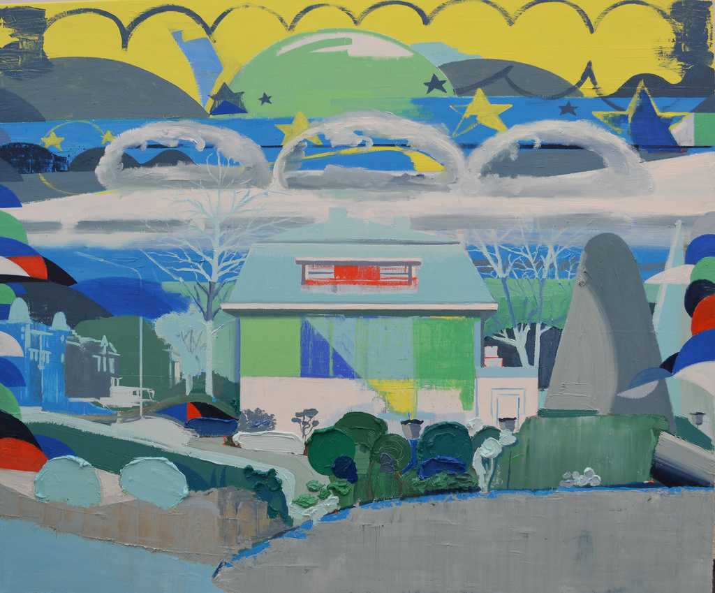 Dutch villa by the pond, 2016, oil on linen 100x120cm