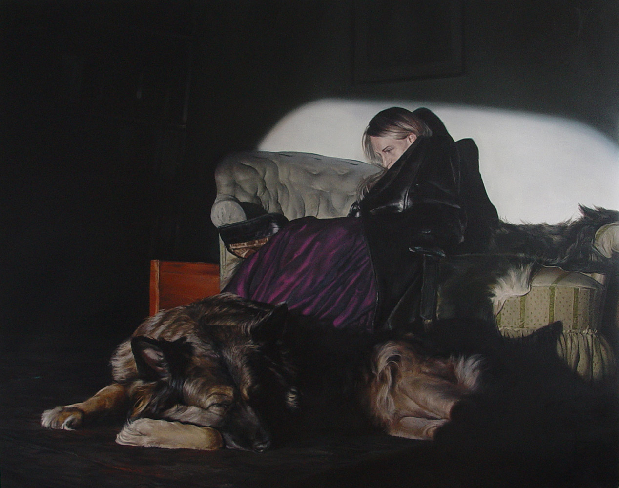 nightwatch | Oil on canvas 63 x78.7 inches / 160 x 200 centimeters