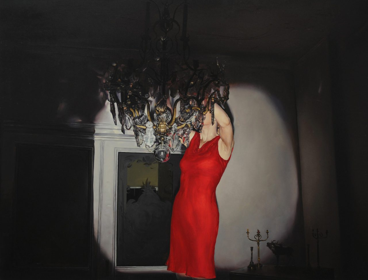 red dress | Oil on canvas 47.24 x 63 inches / 120 x 160 centimeters