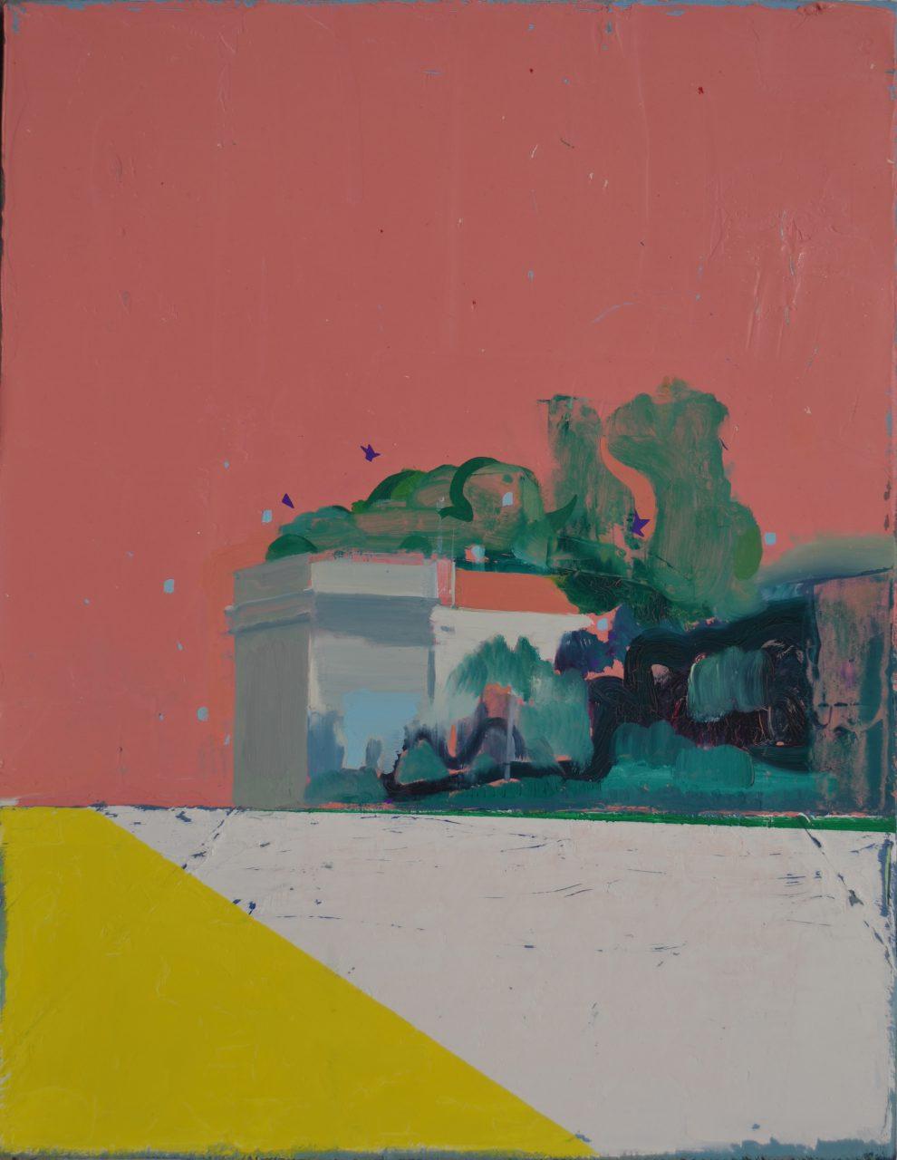Gebouw aan de Buitenwalevest, 2015. 45 x 35 cm, oil on linen