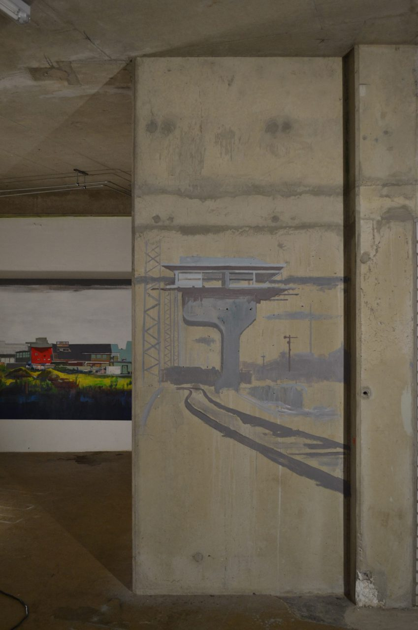 @ Circa dit'...! Projectspace Arnhem, 2014 [mural, acrylic on concrete]