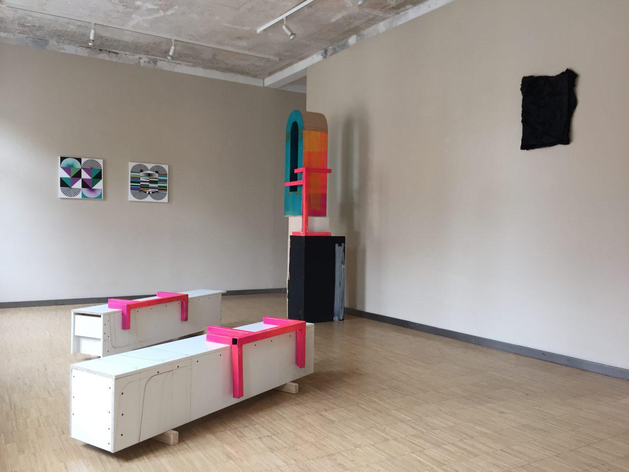 """Maximumlikelyhood"", Kunsthaus Erfurt, 2016, with DAG & Hannu Prinz(right)"
