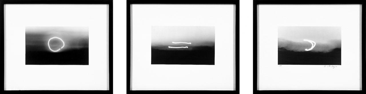 SonnegleichMond | 1975 | Three silver gelatin print each 53,5 x 64 cm
