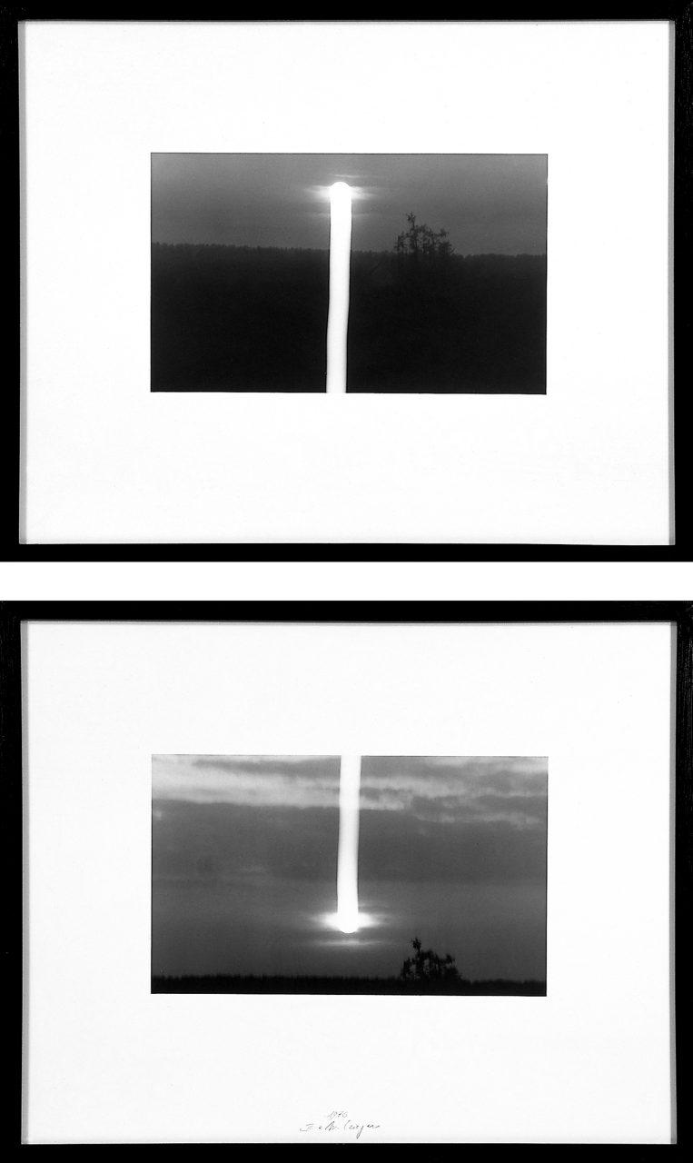 VomTag zur Nacht und umgekehrt | 1976 | Two silver gelatin print each 52 x 63,5 cm