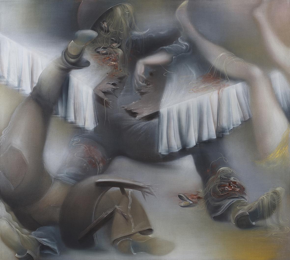 Bellum & Pax 2013 170x190 cm, Oil on raw canvas