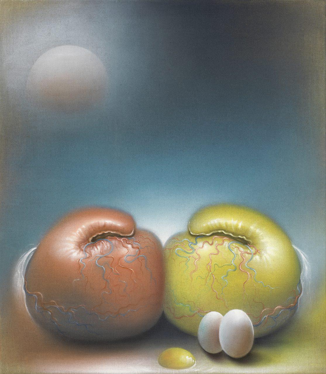 Le Monde 2016, 80x70 cm, Oil on raw canvas