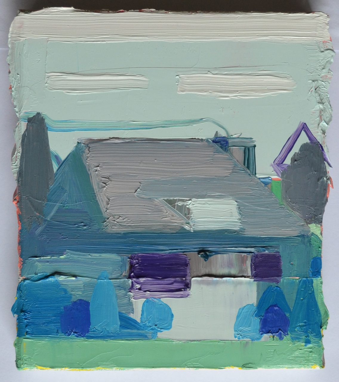 Dutch house nr9, 2016, oil on canvas, 10x12cm (collection Benetton)