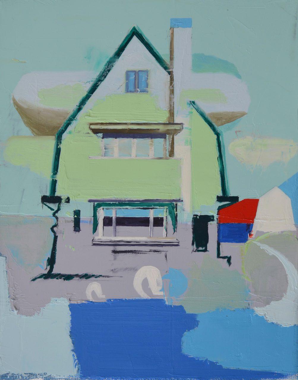 Interbellum House, 2016, 30 x 25 cm, oil on linen