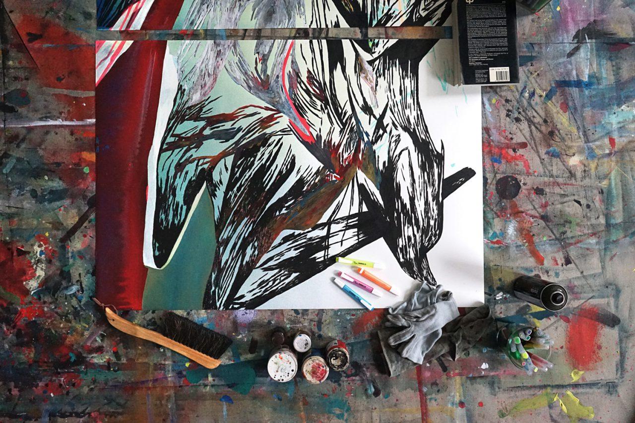 Work in progress NIKE Air – Cycle 06 B 2015 (1/50)   © Studio Ivonne Dippmann