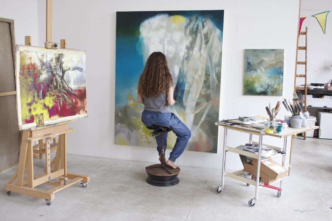 studio view, summer 2016, foto by Michaela Kühn