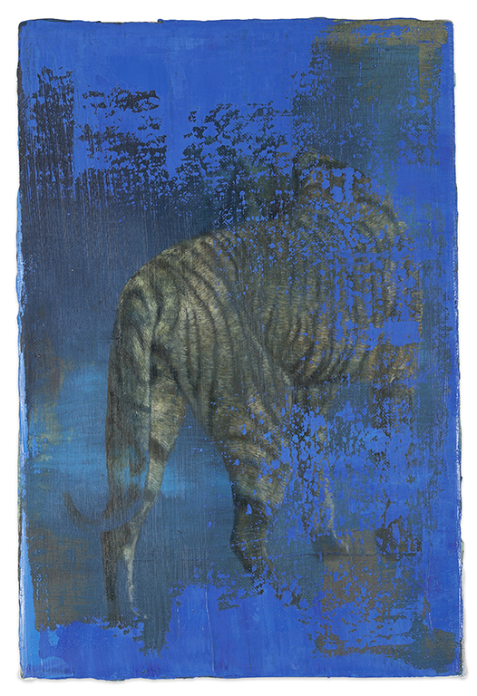 tiger (small) 2, 2016, 30 x 20 cm, oil on canvas