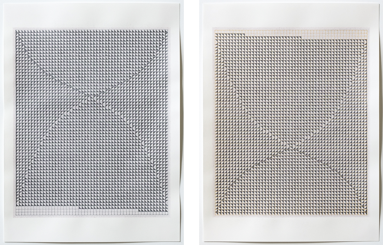 Untitled (nº 30), 2016. Mixed media on cotton paper, 15 3/4 x 11 5/8 in (40 x 29.5 cm) each