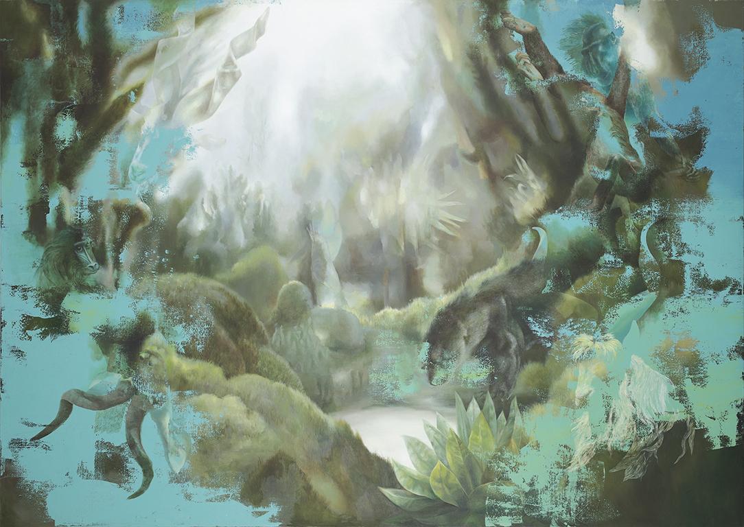 Urwald, 2014, 170 x 240 cm, oil on canvas
