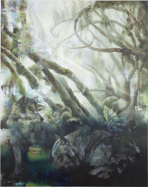 wolves, 2015, 190 x 150 cm, oil on canvas