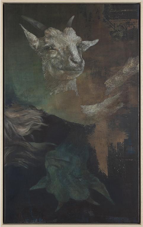 goat (double), 2014, 65 x 40 cm, oil on canvas