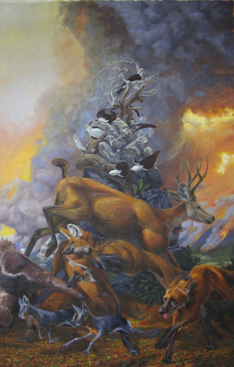 """Cerrado,"" oil on canvas, 132"" x 84,"" 2014"