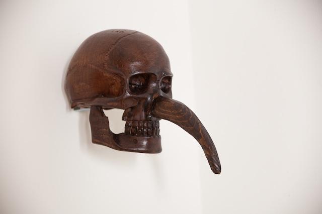 Erez Israeli, Jewish Skull (Cain), 2016, Wood, varnish 29 x 20 x 13 cm