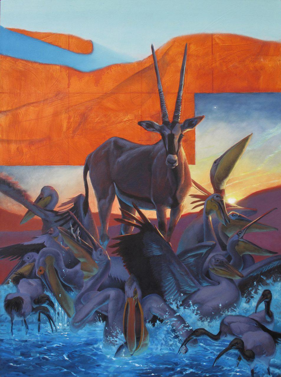 """An Nafud,"" oil on canvas, 64"" x 46,"" 2016"