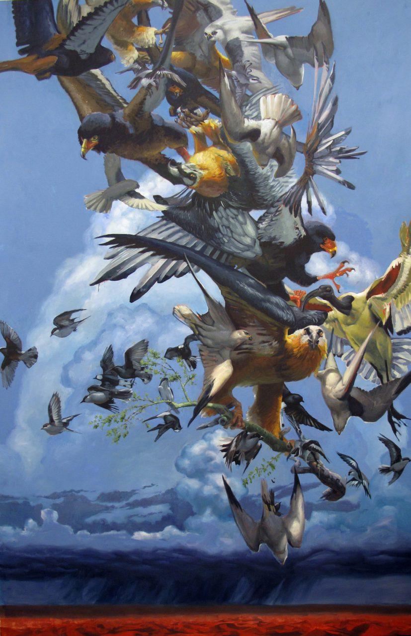 """""""Erg,"""" oil on canvas, 132"""" x 84,"""" 2014"""
