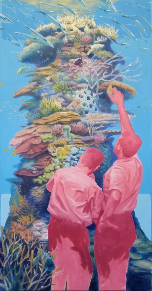 """""""Nursery,"""" oil on canvas, 60"""" x 30,"""" 2014"""
