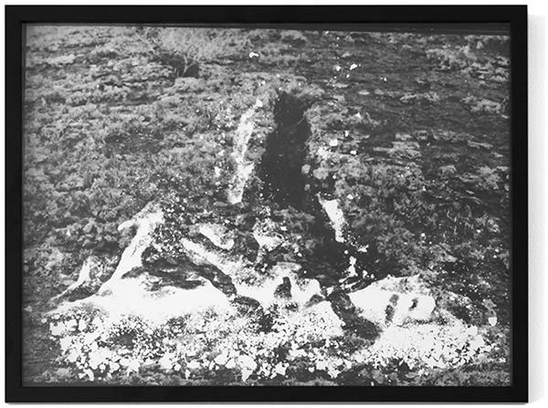 """vulcano sand collages I"", 2016, Fotogramm, 40 cm x 30 cm"