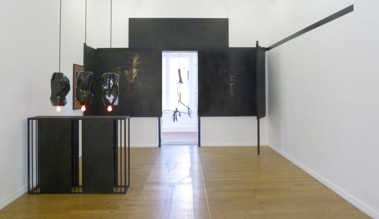 """S.O.R.E.N"", 2014, Installation view Nassauischer Kunstverein Wiesbaden, mixed media"