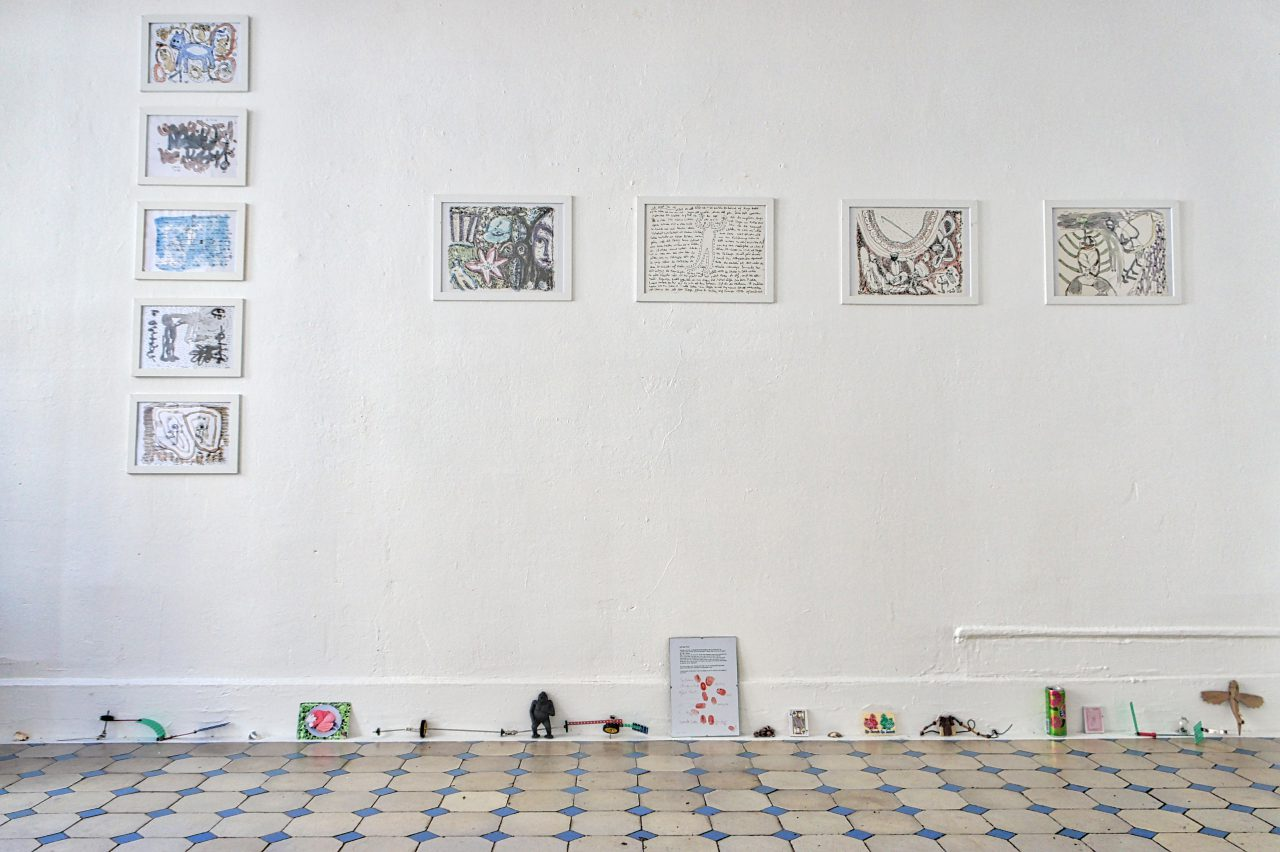 Installation with drawings | exhibition: