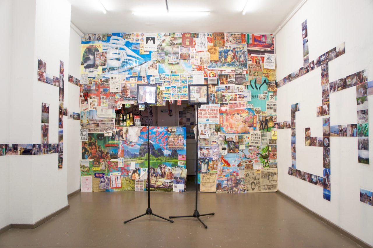 """The Wall   installation with 2 holograms   exhibition: """"Geheimnis"""" Oberwelt Stuttgart, 2015"""