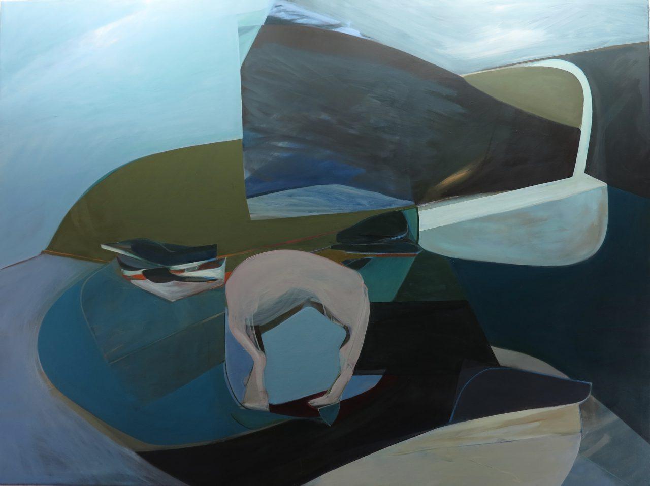 Le cheval de Troie, 200 x 150 cm, Oil painting 2016