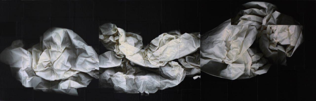 Copygraph on Woodbody, Resin, 125x40x 5cm, 2016 (Foto: Andrea Esswein)