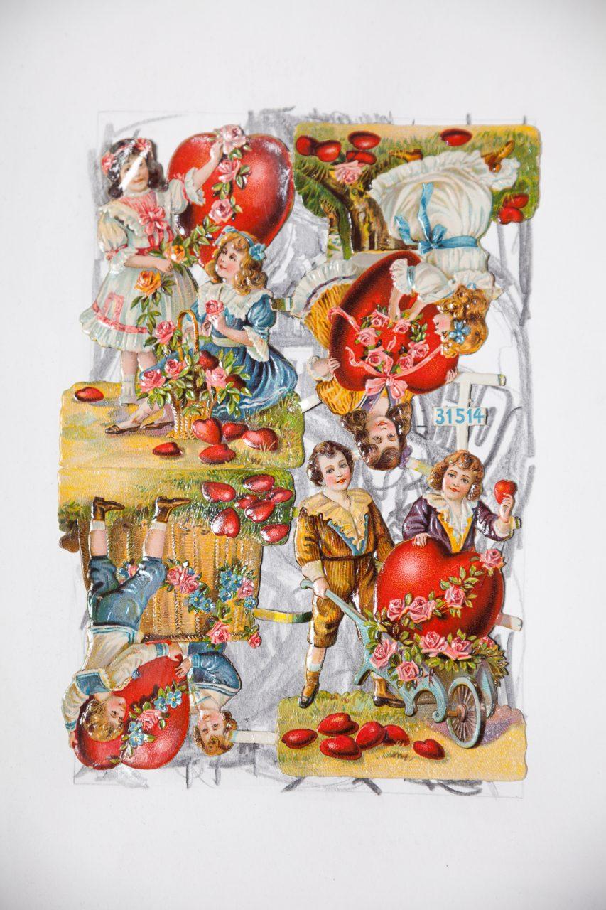 Erez Israeli, DIECUT (Wreath), 2016, Graphite on paper, oblaten, 36 x 48 cm (detail)
