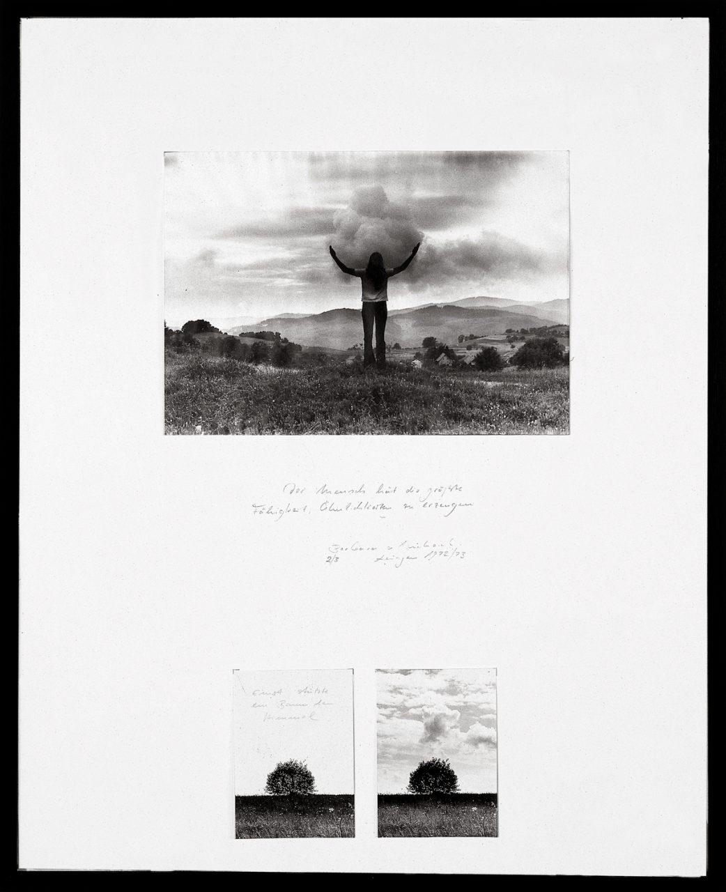 Der Mensch hat die größte Fähigkeit, Ähnlichkeit zu erzeugen | 1972-1973 | Silver gelatin prints mounted on paper | 90,5 x 73,5 cm