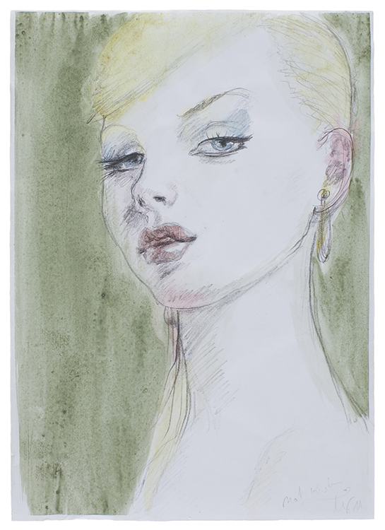 Jeany | 29 x 21 | Pencil, colour pencil and watercolour on paper