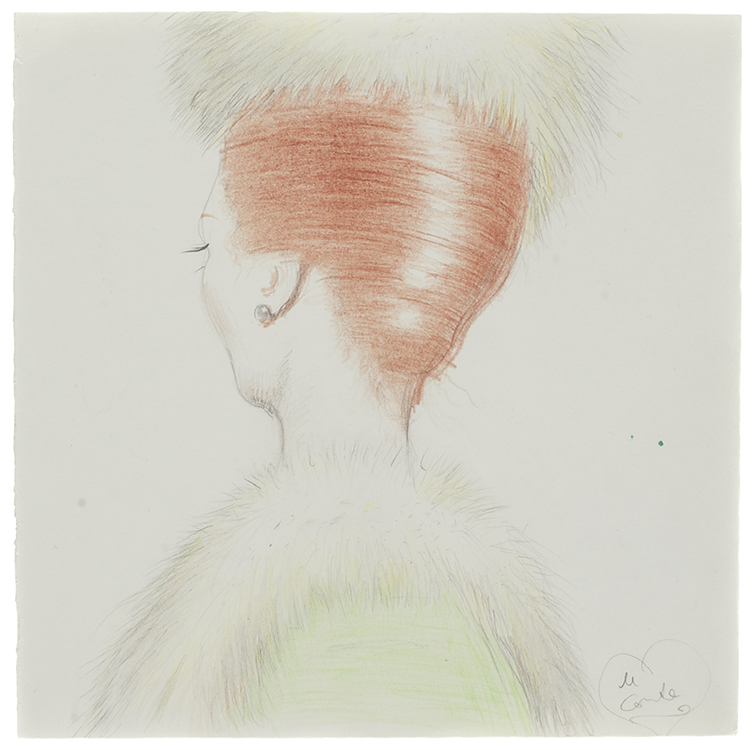 Red and Green | 25 x 25 | Pencil, colour pencil on paper