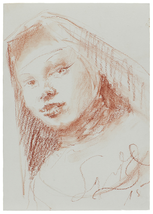 Schwester Bernadette | 29 x 21 | Sanguine on paper
